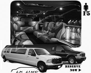 Lincoln Excursion SUV Limo for hire in Ottawa, ON